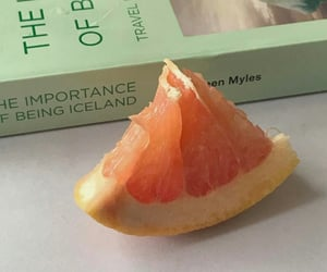 aesthetic, book, and fruit image