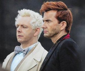 aziraphale, crowley, and david tennant image