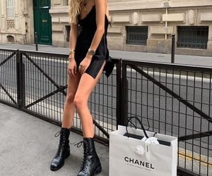 blonde, boots, and chanel image