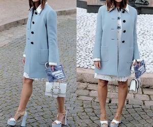 style, blue, and fashion image