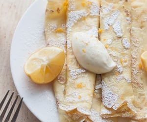 crepes, food, and dessert image