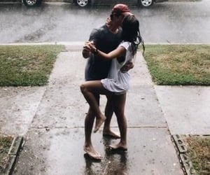 love, couple, and rain image