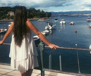adriatic sea, brunette, and vacay image