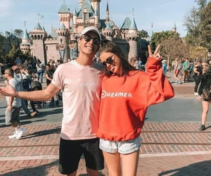 couple, disney, and style image