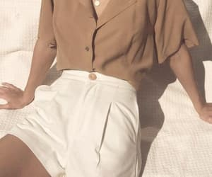 beige, shorts, and brown image
