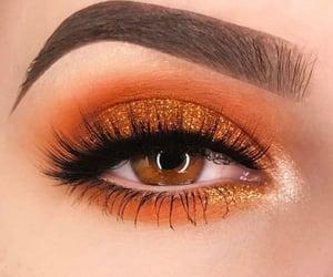 eye makeup, beauty, and eyebrows image