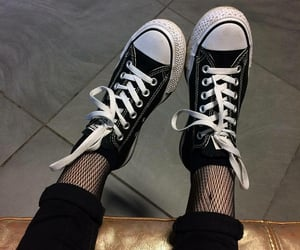 converse and fishnets image