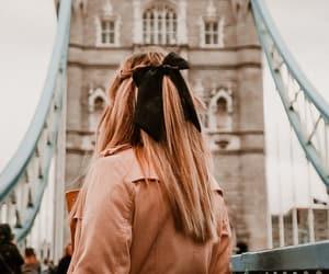 autumn, blonde, and bridge image