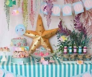 birthday, mermaids party, and decorations image