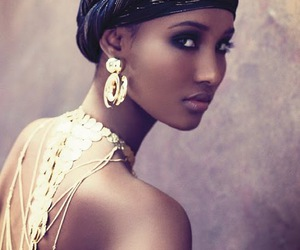 beauty, model, and African image