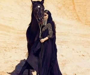 arabia, model, and black image