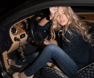 car, blonde, and luxury image