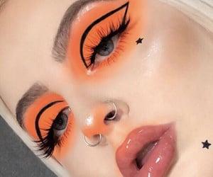 makeup, beauty, and orange image