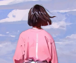 art, pink, and wallpaper image