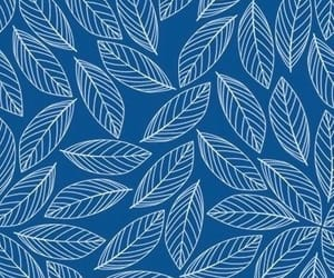 blue, leaves, and background image