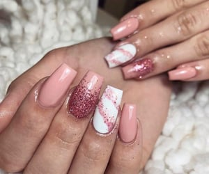 glitter and nails image