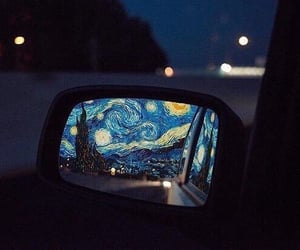 art, starry night, and van gogh image