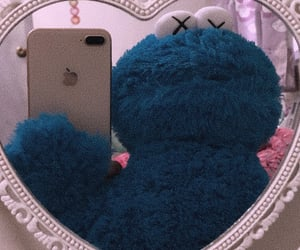 cookie monster, pink, and 💗 image