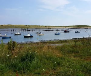 blue, boats, and Northumberland image