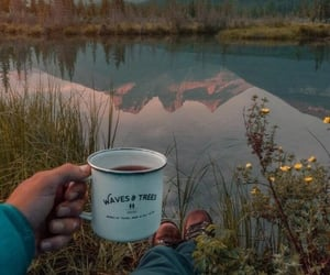 aesthetic, coffee, and nature image