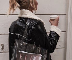 coffee, blonde, and fashion image