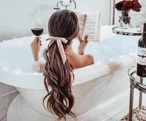 book, hair, and bath image