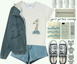 converse, denim, and Polyvore image