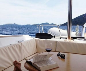 summer, book, and sea image