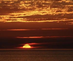 beautiful, ocean, and sun set image