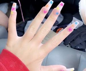 acrylics, fake nails, and long nails image