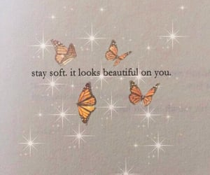 butterfly, quotes, and sparkle image