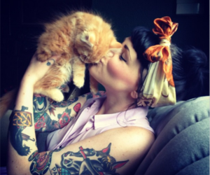tattoo, cat, and Pin Up image