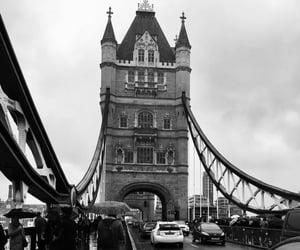 black, bridge, and cars image