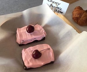 breakfast, cake, and cherry image