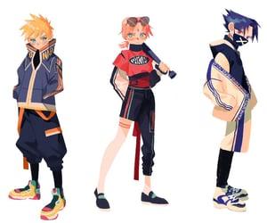 naruto, sakura, and sasuke uchiha image