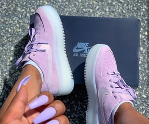 nails, nike, and outfit image