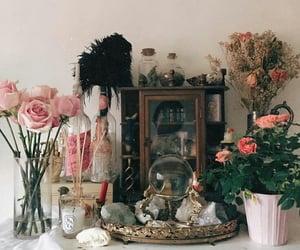 altar, crystals, and crystal ball image