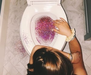 glitter, pink, and party image