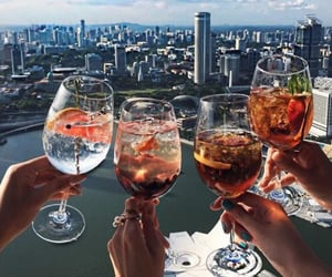 drink, city, and friends image