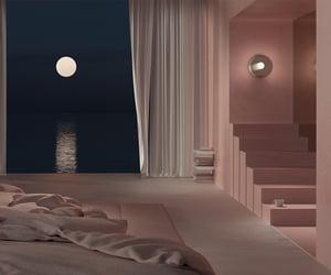 door, moon, and room image