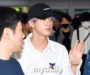 jin, gimpo airport, and bts image