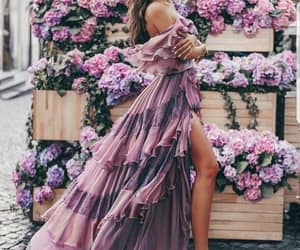 fashion, dress, and purple image