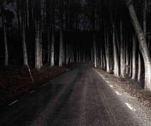 Darkness, headlights, and noir image