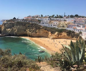 algarve, blue sky, and holiday image