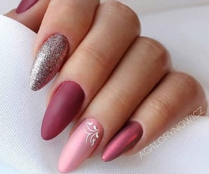 hand, nail art, and nails image