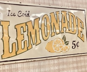 aesthetic, lemonade, and sign image