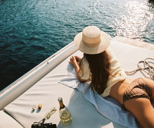beverage, vacation, and yacht image