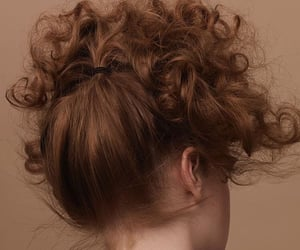 curly hair, hairstyle, and red head image
