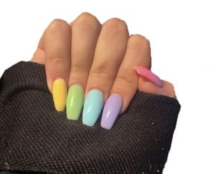 nails, pastel, and colors image