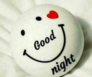 night, smile, and good night image